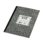 National 43481 8 3/8 inch x 11 inch Black Marble College Rule Composition Book - 80 Sheets
