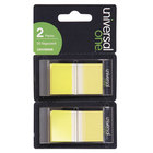Universal UNV99006 1 inch x 1 3/4 inch Yellow Page Flag with Dispenser   - 2/Pack