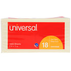 Universal UNV35688 3 inch x 3 inch Yellow Self-Stick Note - 18/Pack