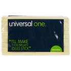 Universal UNV28068 3 inch x 3 inch Yellow Recycled Sticky Note - 18/Pack