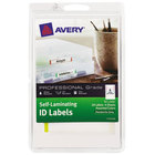 "Avery 00748 2/3"" x 3 3/8"" Assorted Colors Write-On Self-Laminating ID Labels - 24/Pack"