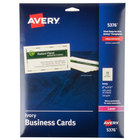 "Avery 5376 2"" x 3 1/2"" Uncoated Ivory Microperf Business Cards - 250/Pack"