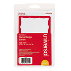 Universal UNV39115 2 1/4 inch x 3 1/2 inch White Border-Style Write-On Self-Adhesive Name Badge with Red Border - 100/Pack