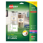 "Avery 00756 Easy Align 2 5/16"" x 3 5/16"" White Rectangular Printable Self-Laminating ID Labels - 100/Pack"