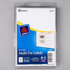 "Avery 5422 1/2"" x 1 3/4"" White Rectangular Removable Write-On / Printable Labels - 840/Pack"