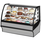"""True TDM-R-59-GE/GE 59"""" Stainless Steel Curved Glass Refrigerated Bakery Display Case"""
