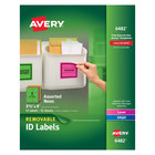 "Avery 6482 3 1/3"" x 4"" Assorted Neon Color Removable ID Labels - 72/Pack"