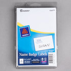 "Avery 5147 2 1/3"" x 3 3/8"" White Printable Self-Adhesive Name Badges - 100/Pack"