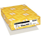 Neenah 82341 Exact 8 1/2 inch x 11 inch Gray Pack of 67# Vellum Paper Cover Stock - 250 Sheets
