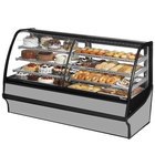 True TDM-DZ-77-GE/GE 77 inch Stainless Steel Dual Dry / Refrigerated Bakery Display Case with Stainless Steel Interior