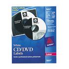 Avery 5697 Matte White CD / DVD Labels - 250/Box