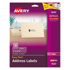 "Avery 5630 1"" x 2 5/8"" Easy Peel Clear Mailing Address Labels - 750/Pack"