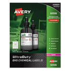 """Avery 60506 UltraDuty 2"""" x 2"""" GHS Chemical Labels for Laser Printers - 600/Box"""
