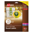 "Avery 22807 Easy Peel 2"" True Print White Glossy Round Print-to-the-Edge Labels - 120/Pack"