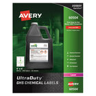 """Avery 60504 UltraDuty 4"""" x 4"""" GHS Chemical Labels for Laser Printers - 200/Box"""