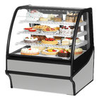 True TDM-R-36-GE/GE 36 inch Stainless Steel Curved Glass Refrigerated Bakery Display Case