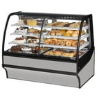 True TDM-DZ-59-GE/GE 59 inch Stainless Steel Dual Dry / Refrigerated Bakery Display Case