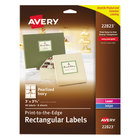 """Avery 22823 3"""" x 3 3/4"""" Pearlized Ivory Rectangular Print-to-the-Edge Labels - 48/Pack"""