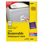Avery 6464 3 1/3 inch x 4 inch White Removable ID Labels - 150/Pack