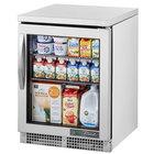 True TUC-24G-HC~FGD01 24 inch Undercounter Refrigerator with Glass Door