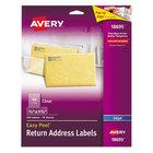 Avery 18695 Easy Peel 2/3 inch x 1 3/4 inch Clear Inkjet Printer Return Address Labels - 600/Pack