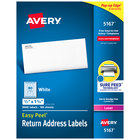 Avery 5167 Easy Peel 1/2 inch x 1 3/4 inch Printable Return Address Labels - 8000/Box