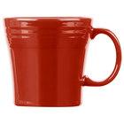 Homer Laughlin 1475326 Fiesta Scarlet 15 oz. Tapered Mug   - 12/Case