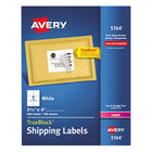 """Avery 5164 3 1/3"""" x 4"""" White Shipping Labels - 600/Box"""