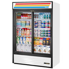 True GDM-47-HC-LD 54 inch White Refrigerated Sliding Glass Door Merchandiser with LED Lighting