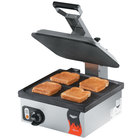 Vollrath 40792 Cayenne Single Panini Sandwich Press - Smooth Non Stick Plates - 13 5/16 inch x 12 3/16 inch Cooking Surface - 120V, 1800W
