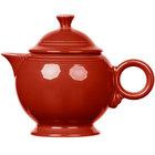 Homer Laughlin 496326 Fiesta Scarlet 44 oz. Covered Teapot - 4/Case
