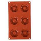 Matfer Bourgeat 257928 Gastroflex Silicone 6 Compartment Savarin Mold