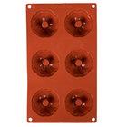 Matfer Bourgeat 257931 Gastroflex Silicone 6 Compartment Mini Kugelhopf Mold