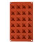 Matfer Bourgeat 257920 Gastroflex Silicone 24 Compartment Mini Pyramid Mold