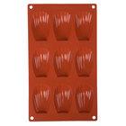 Matfer Bourgeat 257917 Gastroflex Silicone 9 Compartment Madeleine Mold