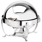 Eastern Tabletop 3118 Park Avenue 8 Qt. Round Stainless Steel Roll Top Induction / Traditional Chafer