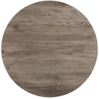 Grosfillex 99832076 30 inch Round Aged Oak Outdoor Molded Melamine Table Top