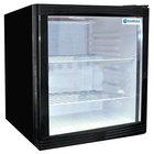 Excellence EMM-2S Black Countertop Display Refrigerator with Swing Door - 1.8 cu. ft.