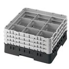 Cambro Full Size 9 Compartment Glass Racks, 3 5/8