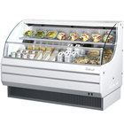 Turbo Air TOM-60LW-N 63 inch White Low Profile Horizontal Air Curtain Display Case