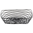 Tablecraft BK17209 Artisan Rectangular Black Wire Basket - 9 inch x 6 inch x 2 1/2 inch