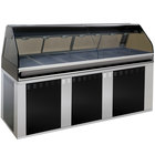 Alto-Shaam EU2SYS-96 BK Black Cook / Hold / Display Case with Curved Glass and Base - Full Service, 96 inch