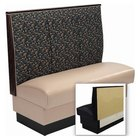 American Tables & Seating AS-363-Wall 3 Channel Back Upholstered Wall Bench - 36 inch High