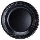 Dart 9PBQR Quiet Classic 9 inch Black Laminated Round Foam Plate - 125/Pack