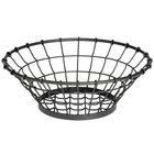 Tablecraft GM15 Grand Master Round Black Wire Basket - 15 inch x 5 1/4 inch