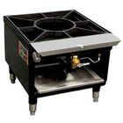 Town SR-18-R-SS-N Natural Gas Stock Pot Range with Rear Manifold - 75,000 BTU