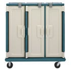 Cambro MDC1520T30192 Granite Green 3 Compartment Meal Delivery Cart 30 Tray