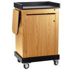 Oklahoma Sound SCLOK Smart Cart Lectern - Light Oak Finish