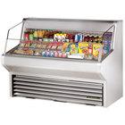 True THAC-60-S 60 inch Stainless Steel Refrigerated Horizontal Air Curtain Merchandiser - 14.8 Cu. Ft.