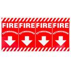 Buckeye 24 1/2 inch x 12 inch Wrap-Around Fire Extinguisher Adhesive Label